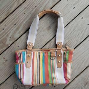 St. John's Bay striped colorful handbag